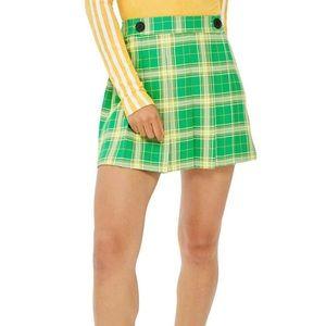 Topshop green plaid skirt